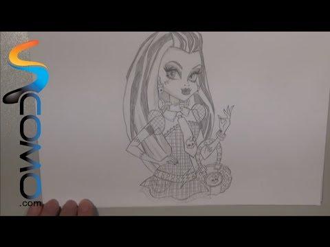 Dibujar a Frankie Stein de Monster High