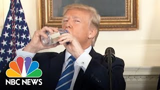 President Donald Trump Vs. Marco Rubio: Awkward Water Bottle Moments | NBC News - NBCNEWS