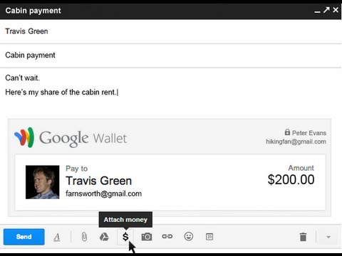 Send money with Gmail and Google Wallet