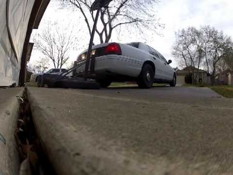 Crown Victoria Rear Push Bar In Action