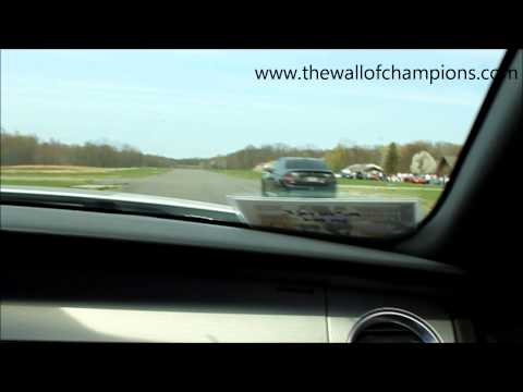 Ford Shelby Mustang GT500 vs Modified C63 AMG Drag Race