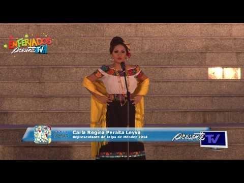Jalpa de Méndez 2014, Carla Regina Peralta Leyva - Presentación a medios y discurso