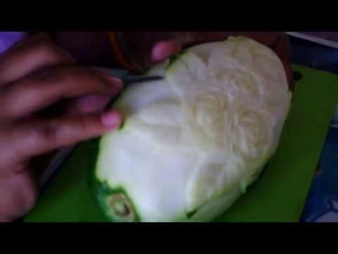 ฝึกแกะสลักผักผลไม้โรงเรียนวัดท่าช้าง(เดิมบางนางบวช)