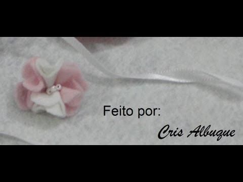 Flor de feltro 1 passo a passo