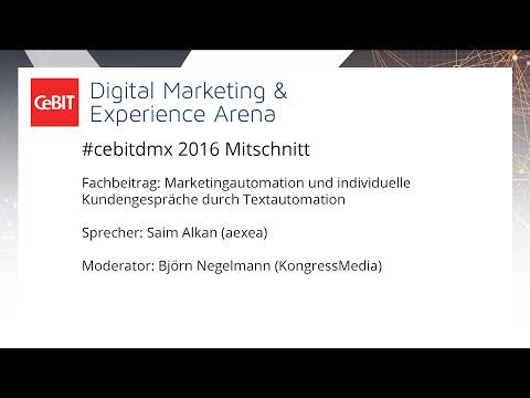 """#cebitdmx: Fachbeitrag """"Marketingautomation und individuelle Kundengespräche durch Textautomation"""""""