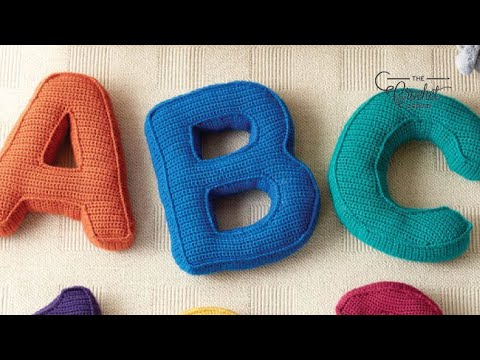 How to Crochet A Letter Pillow