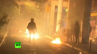 Molotov cocktail clashes: Thousands march in Athens marking 1973 Greek student revolt - RUSSIATODAY