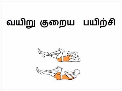 வயிறு, இடுப்பு குறைய பயிற்சி reduce hip fat in tamil