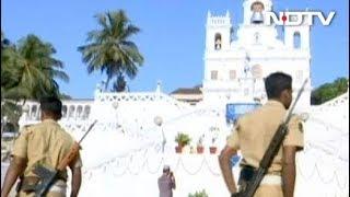 श्रीलंका हमले के बाद गोवा में सुरक्षा कड़ी - NDTVINDIA