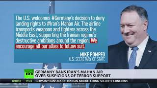 Germany bans Iran's Mahan air over suspicions of terror support - RUSSIATODAY