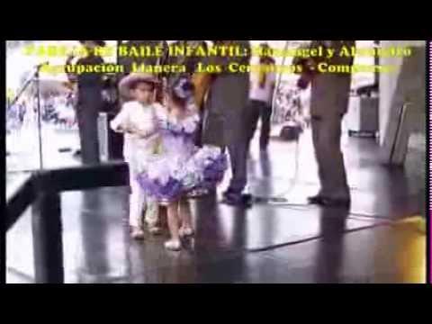 PAREJA DE BAILE JOROPO NIÑOS con Los Centauros
