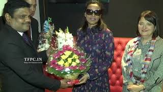 Mahesh Babu Wife Namrata Shirodkar and US Consul General Katherine Hadda In AMB Cinemas | TFPC - TFPC