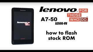 How to flash lenovo a3500HV