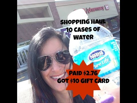 CVS Shopping Trip WATER Haul Saved over 90% Received $10 Gift Card