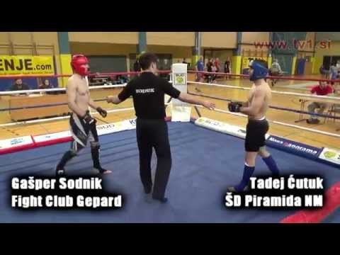 Gašper Sodnik Fight Club Gepard vs Tadej Ćutuk ŠD Piramida NM
