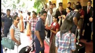31 Oct,2014 - Sri Lankan cricket team arrives in India for One Day International series - ANIINDIAFILE