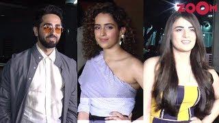 Badhaai Ho Special Screening | Ayushmann Khurrana, Sanya Malhotra, Radhika Madan & More - ZOOMDEKHO