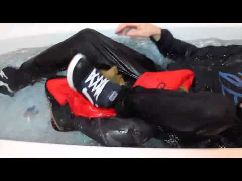 in the bathtub with my favourite clothes...