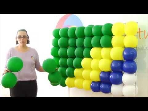Como montar painel de balões com tela de ferro?