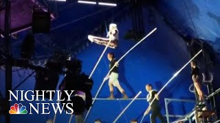 New Video Shows Near-Deadly High Wire Accident That Could Have Killed 8 People | NBC Nightly News - NBCNEWS