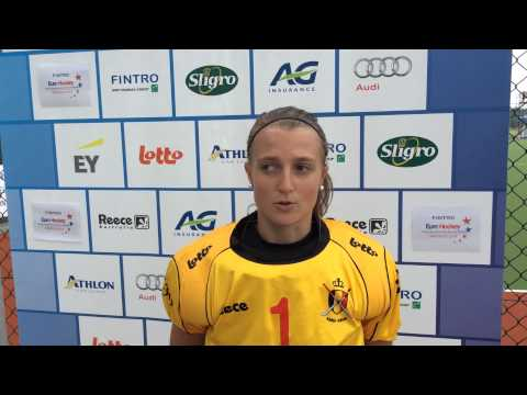 Fintro EuroHockey Junior Championships 2014 Day 7 - Post match interview BEL-FRA (w) 3-2