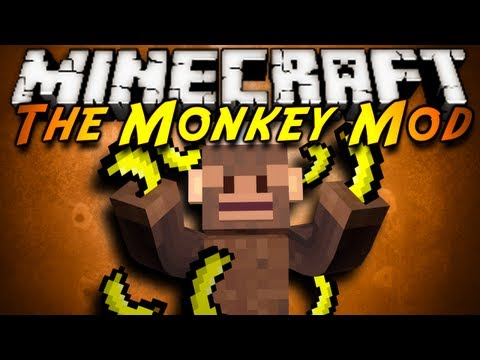 Minecraft Mod Showcase THE MONKEY MOD