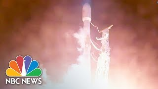 SpaceX Launches Rocket Carrying Satellite Into Space | NBC News - NBCNEWS