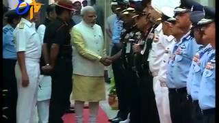 PM Narendra Modi Meets Top Military Officers @ Combined Commanders' Conference - ETV2INDIA