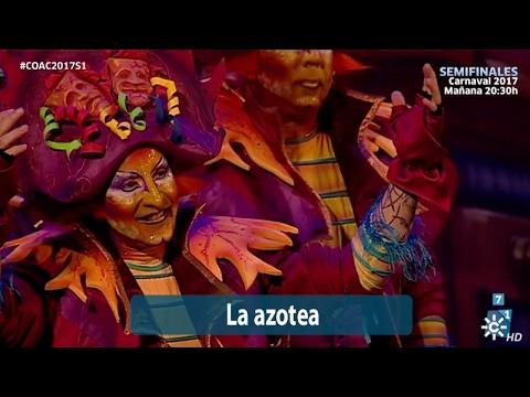 Sesión de Semifinales, la agrupación La azotea actúa hoy en la modalidad de Comparsas.