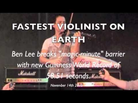 """Flight of the Bumblebee"" : FASTEST VIOLIN : new Guinness World Record : November 2010 : FUSE"