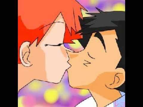 ash and misty kiss the girl № 334769