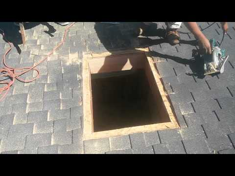 How to Video: Installing a Curb Mount Skylight , step by step from start to finish!