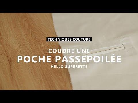 COUDRE UNE POCHE PASSEPOILÉE - TUTO COUTURE TECHNIQUE