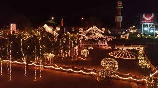 Watch: Flyover in Coimbatore lit up for Diwali - TIMESOFINDIACHANNEL