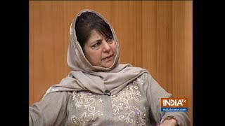 Mehbooba Mufti In Aap Ki Adalat: If US can have talks with Afghan Taliban, why can't India-Pak - INDIATV