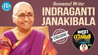 Renowned Writer Indraganti Janakibala Exclusive Interview || Akshara Yatra With Mrunalini #23 - IDREAMMOVIES
