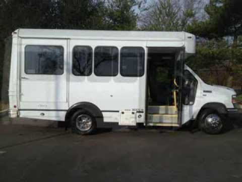 Used Handicap Bus For Sale 2012 Ford E350 Wheelchair Shuttle Bus For Sale only 9,287 Miles