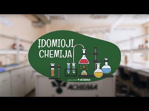 """AB """"Achema"""" vaizdo pamoka """"Įdomioji chemija"""". Įspūdingiausi eksperimentai nuotolinėje chemijos pamokoje"""