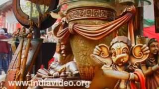 Wooden artifacts, Chattisgarh, Surajkund Crafts Mela, India
