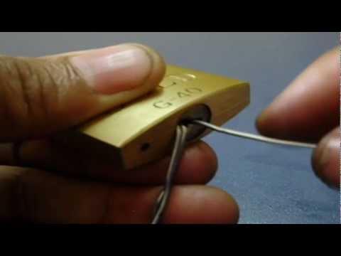 Como Abrir Um Cadeado Sem A Chave ( Ensinando Passo a Passo)