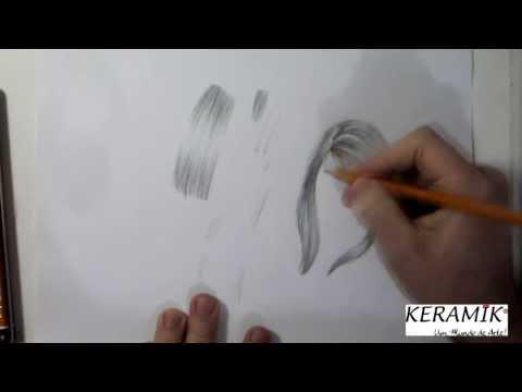 Como desenhar: Cabelo - Grafite - Técnica Básica