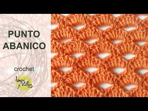 Tutorial Punto Abanico Crochet o Ganchillo
