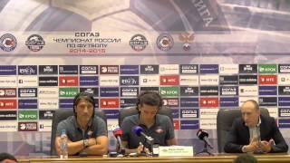 Пресс конференция главного тренера футбольного клуба Спартак