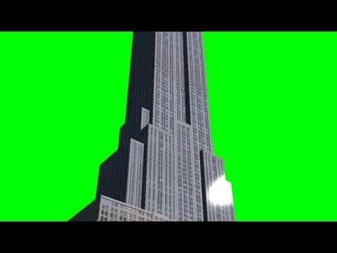 Empire State Building on green screen 3D Model - free green screen
