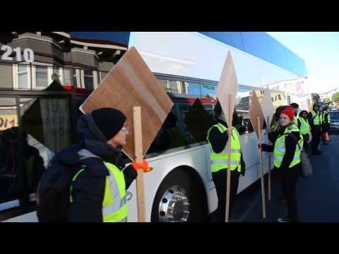 Google Bus protest San Francisco is not for sale