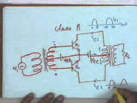 lecture19 Power Amplifiers (contd) and an Introduction to Small Signal Modeling of BJT