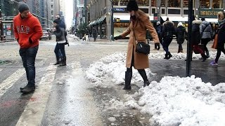 Here's Why Those Slushy Sidewalk Puddles Are Crazy Deep - BLOOMBERG