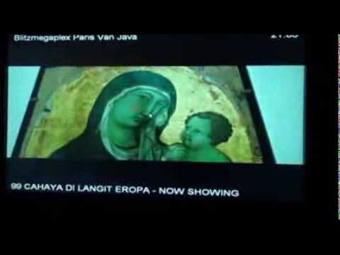 Aher dan Deddy Mizwar Nonton Film 99 Cahaya di Langit Eropa