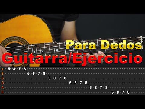 Ejercicios de guitarra - Calentamiento de Dedos - DIGITACION Y VELOCIDAD Guitarra Tutorial (HD)