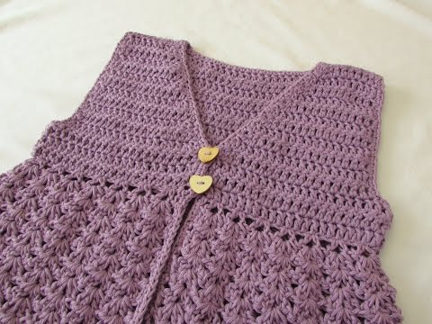How to crochet a girl's pretty bohemian vest